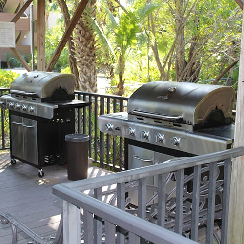 Gazebo Deck with Gas Grills